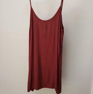 Brandy Melville burgundy slip dress red wine grung